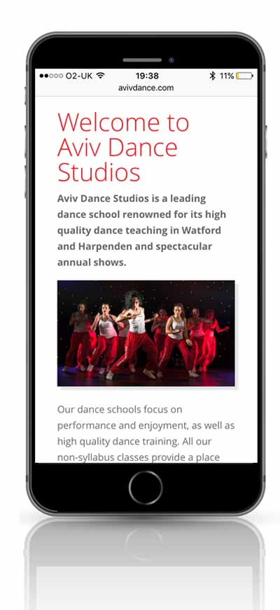 Aviv Dance Studios mobile screenshot