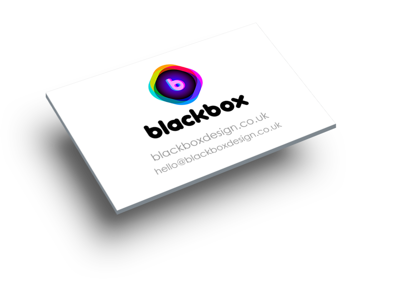 business card with blackbox contact details