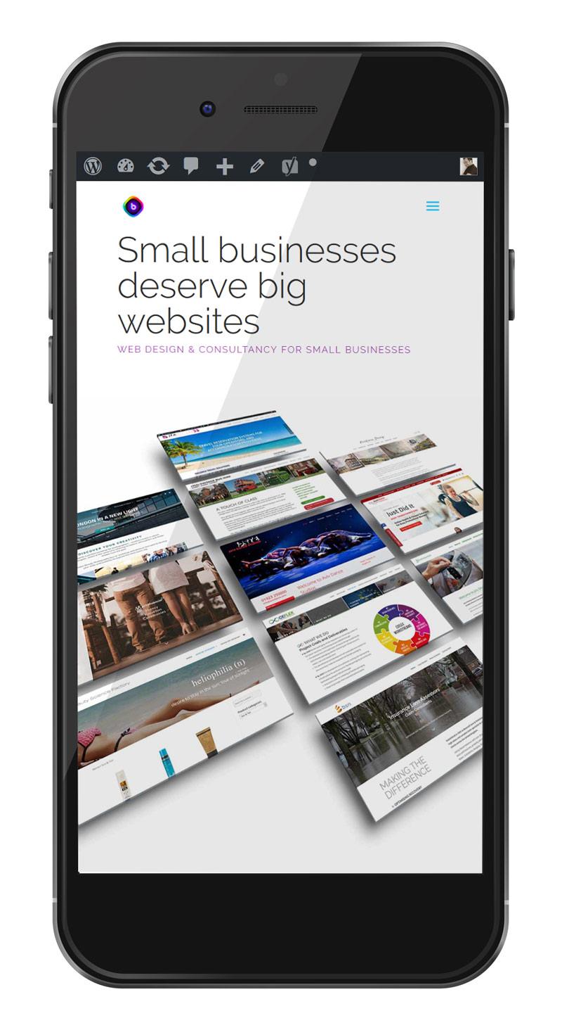 smartphone showing the blackbox website