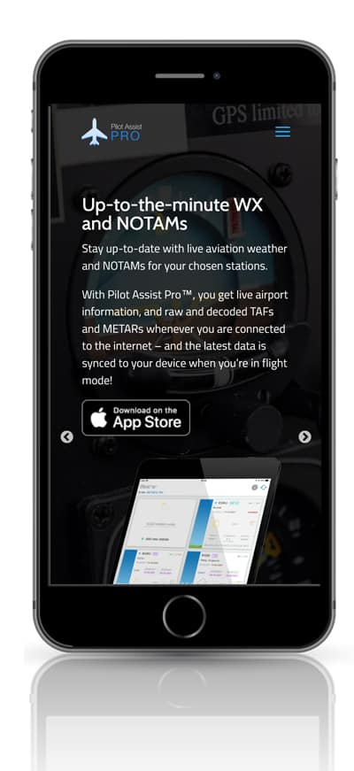 web design screenshot shown on mobile