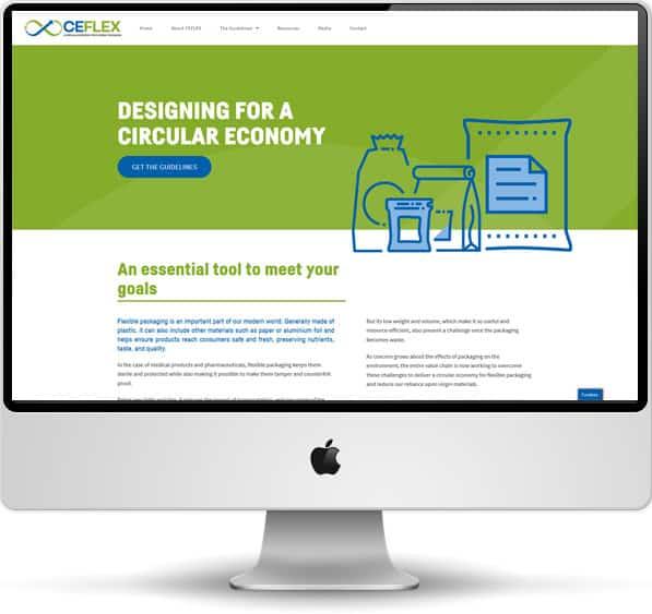 Screenshot of the CEFLEX website