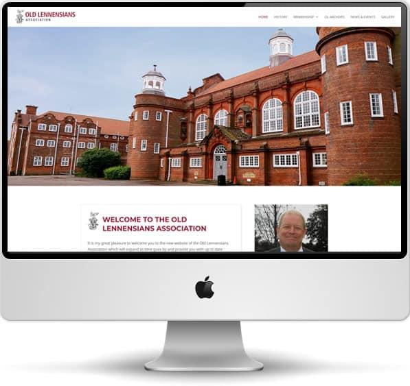 Screenshot of the Old Lennensians Association website